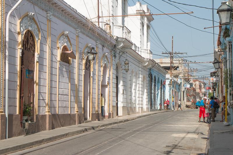 The streets of Santiago de Cuba