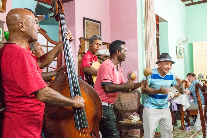 Live 'Son' music at a restaurant, Trinidad