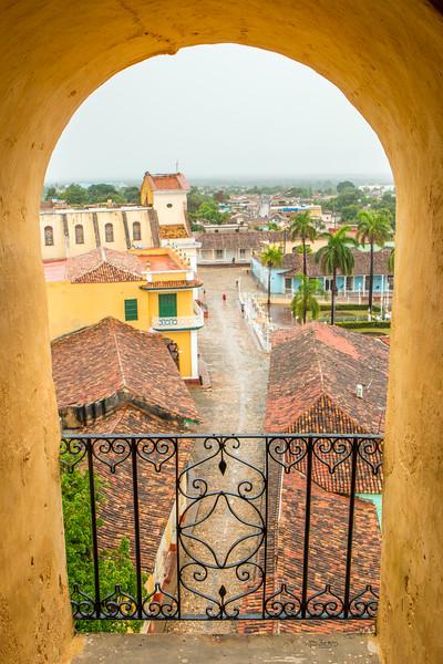 Plaza Mayor from the top of Iglesia y Convento de San Francisco, Trinidad