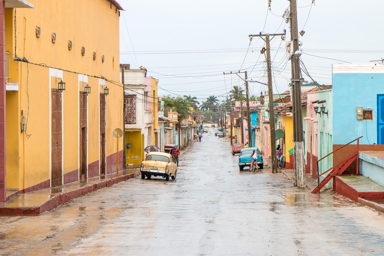 Colourful street in Trinidad