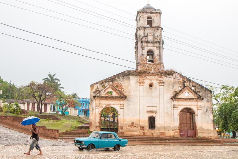Iglesia de Santa Ana in the Rain