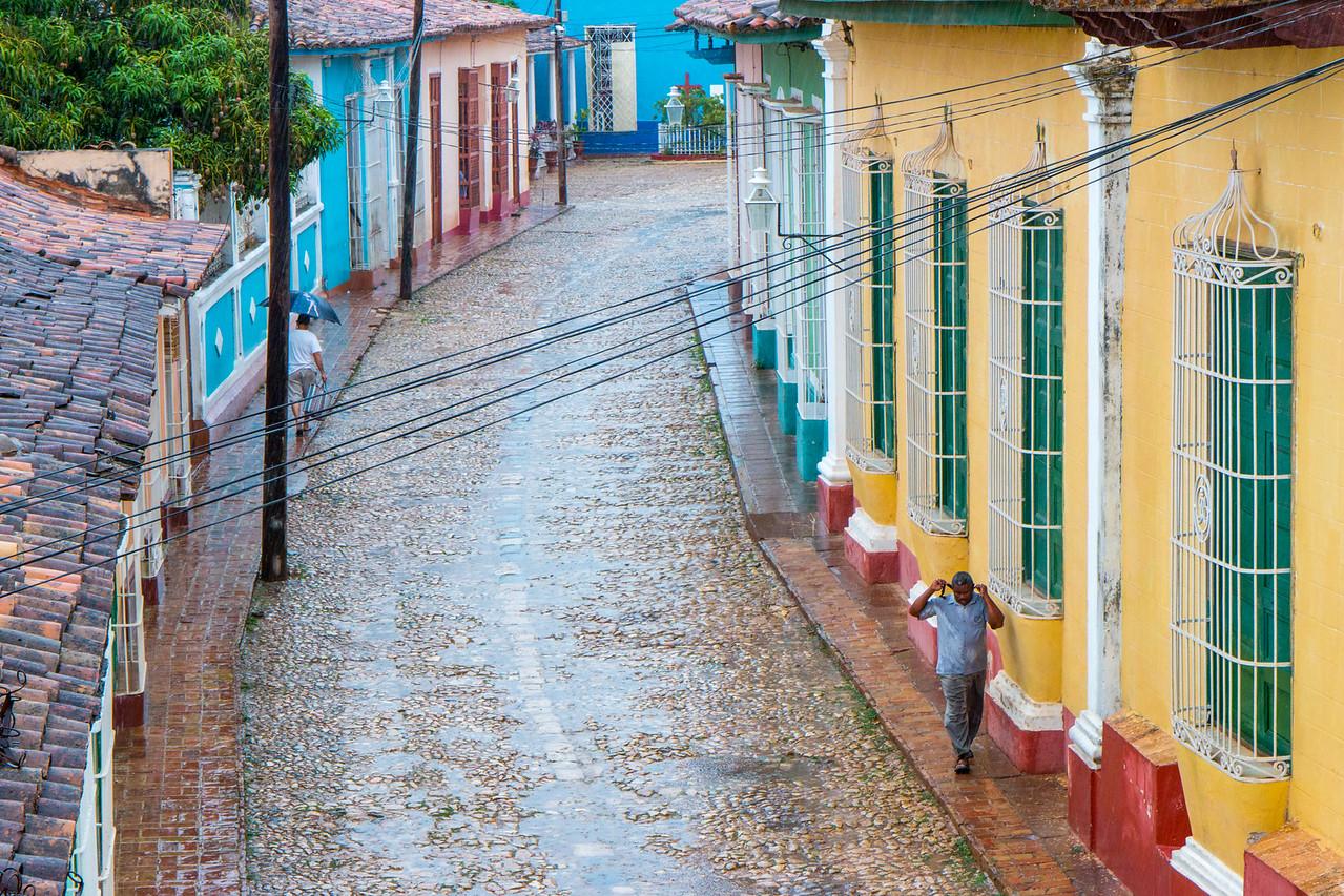 Rainy day on the streets of Trinidad