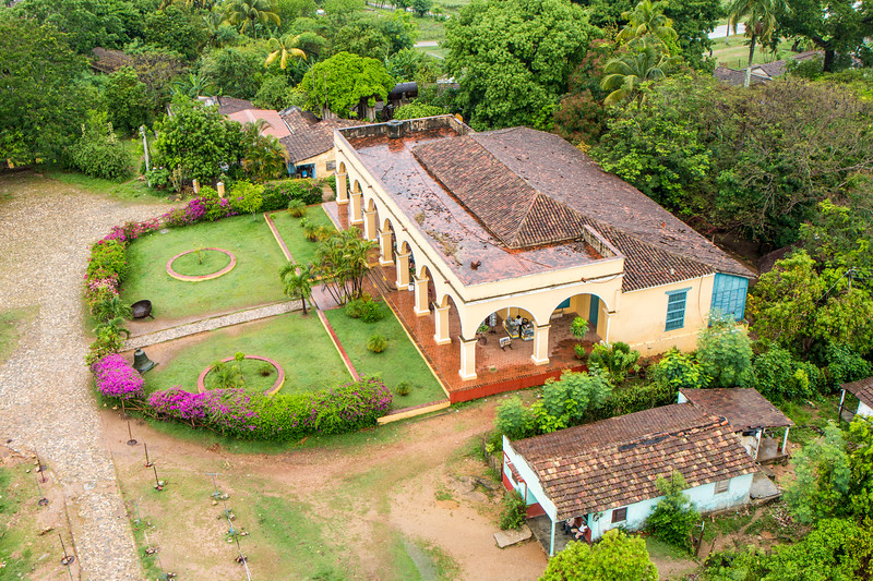 Aerial view of Manaca Iznaga house, Cuba