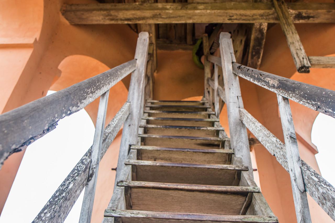 Climbing Iznaga Tower