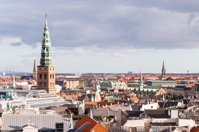 The other towers in Copenhagen as seen from the Round Tower