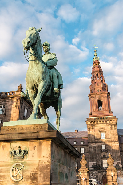 Christian IX and the Christiansborg Palace Tower, Copenhagen