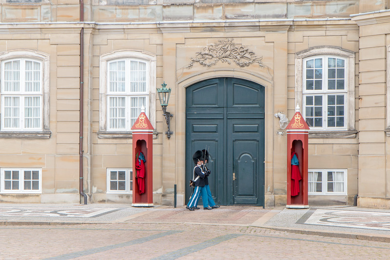 Royal guards, Amalienborg, Copenhagen