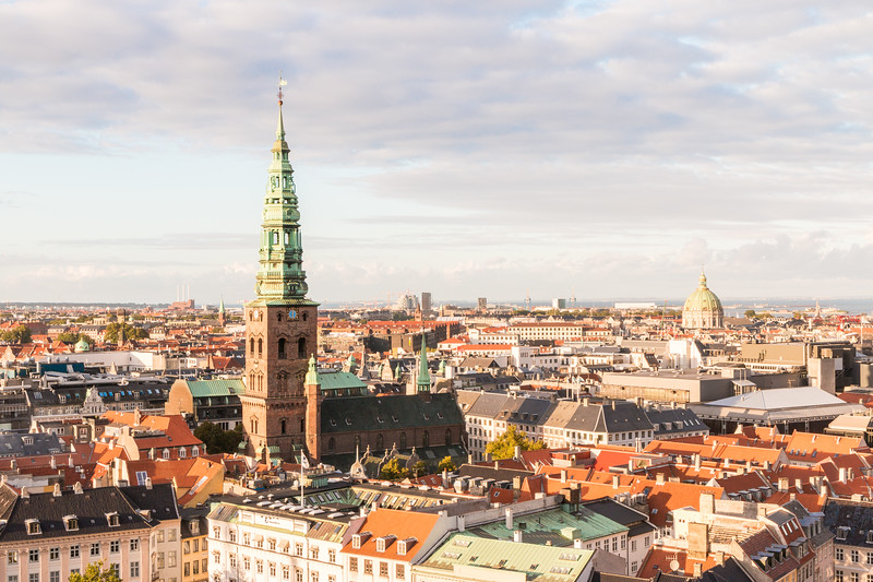 The views from the tower at Christiansborg Palace, Copenhagen