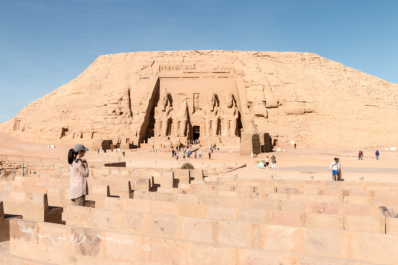 Cristina at Abu Simbel
