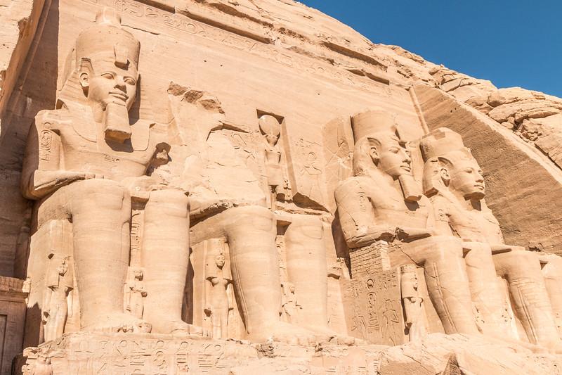 Colossal statues, Abu Simbel, Egypt