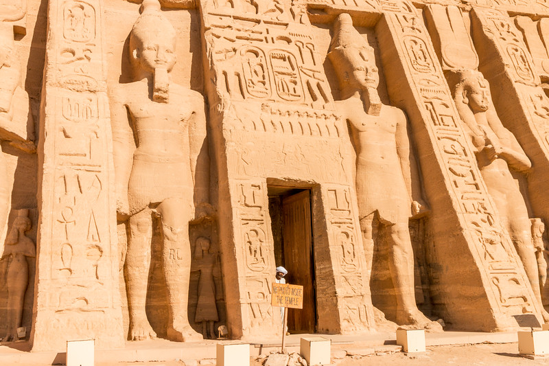 Temple entrance, Abu Simbel, Egypt