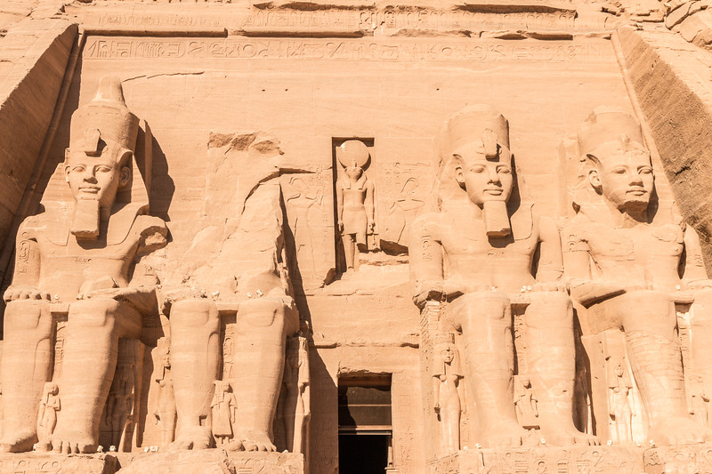 Entrance to the temple of Ramesses II, Abu Simbel