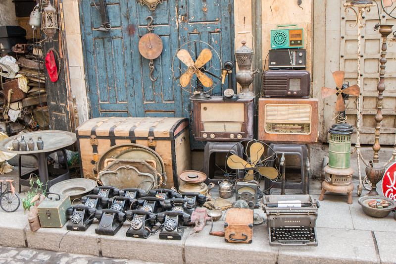 Old stuff at Khan el Khalili, Cairo