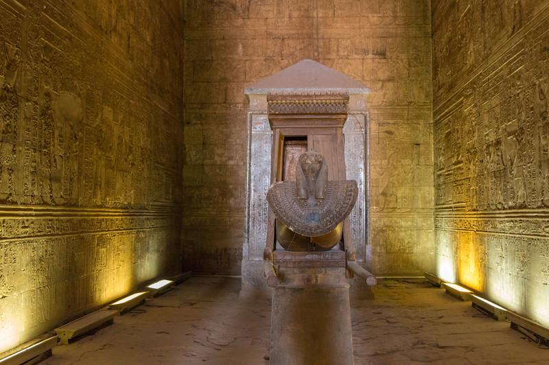 Sanctuary, Temple of Edfu, Egypt