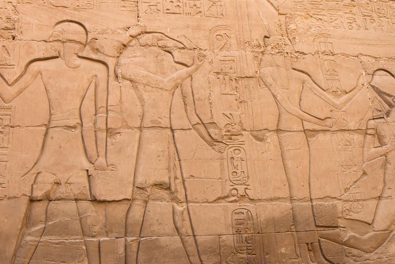 Wall art, Karnak, Luxor, Egypt