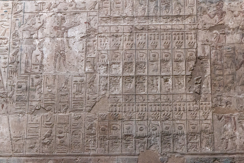 Detail, Luxor Temple, Luxor, Egypt