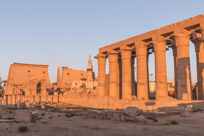 Sunset, Luxor Temple, Luxor, Egypt