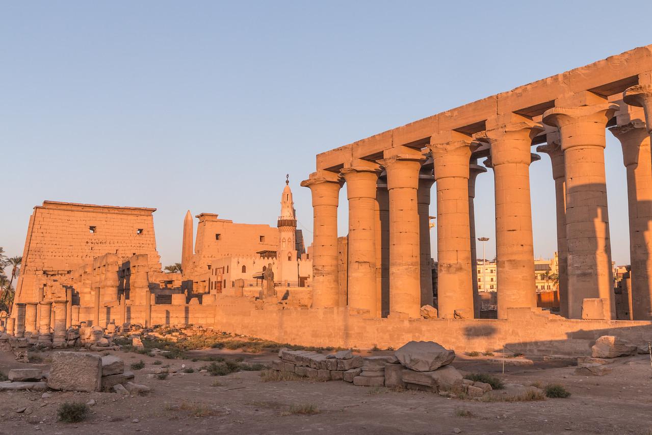 Senset over Luxor Temple