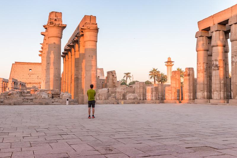 Hugo at Luxor Temple