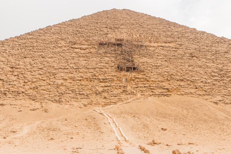 Red Pyramid entrance, Dhashur, Egypt