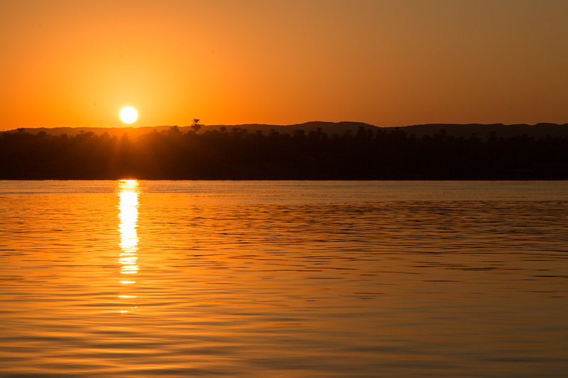 Sunrise on the Nile, Egypt