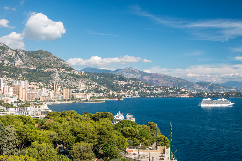 From the top of the Ocenanographic Museum, Monaco
