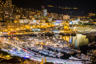 Monaco by night