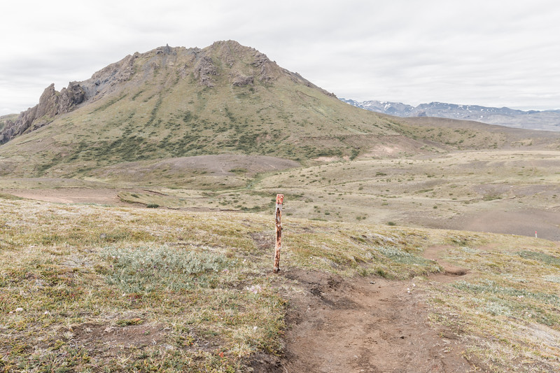 Hiking path, Thórsmörk, Iceland