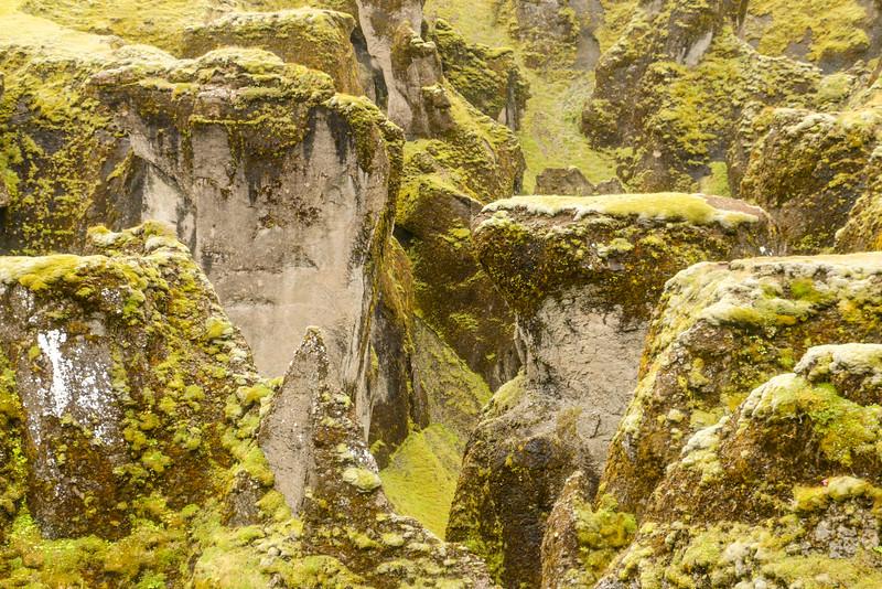Fjaðrárgljúfur canyon details