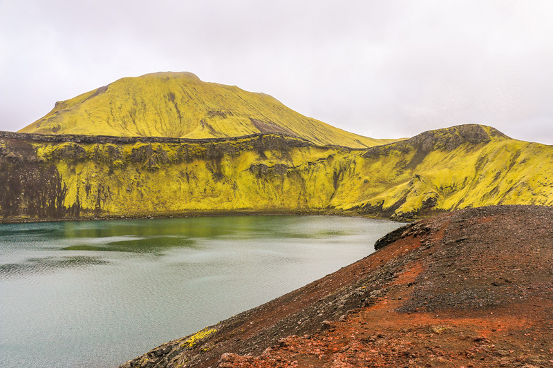 Hnausapollur lake, Iceland