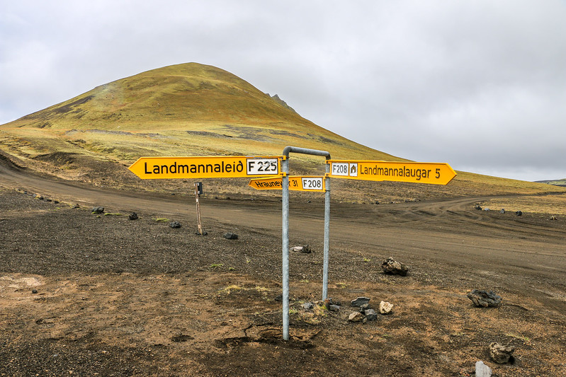Road 208 intersection with F225, Iceland