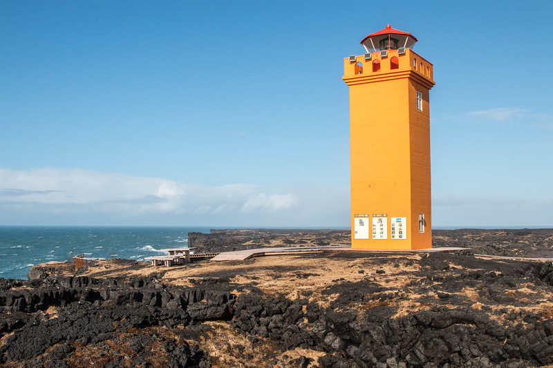 A lighthouse in the Snæfellsnes peninsula, Iceland