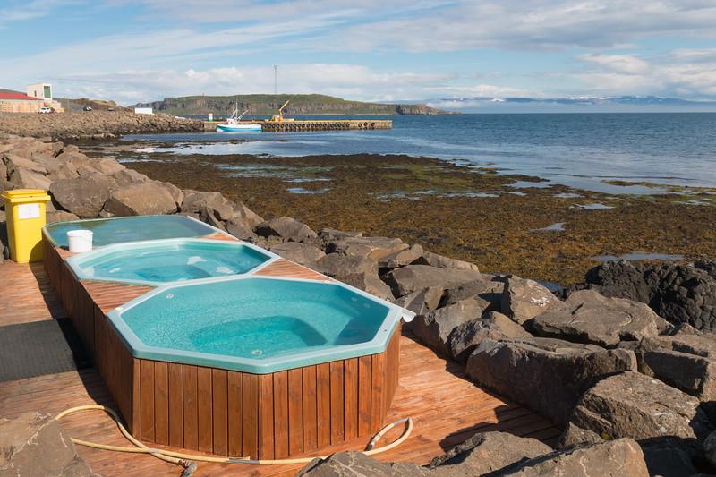 Drangsnes hot pools, Iceland