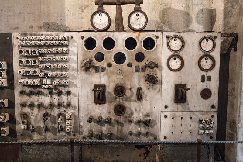 Control panel, Djúpavík herring factory, Iceland