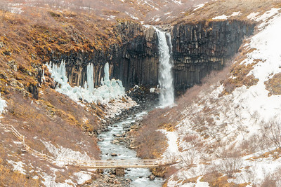 Svartifoss in the Winter