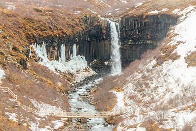 Svartifoss in the Winter