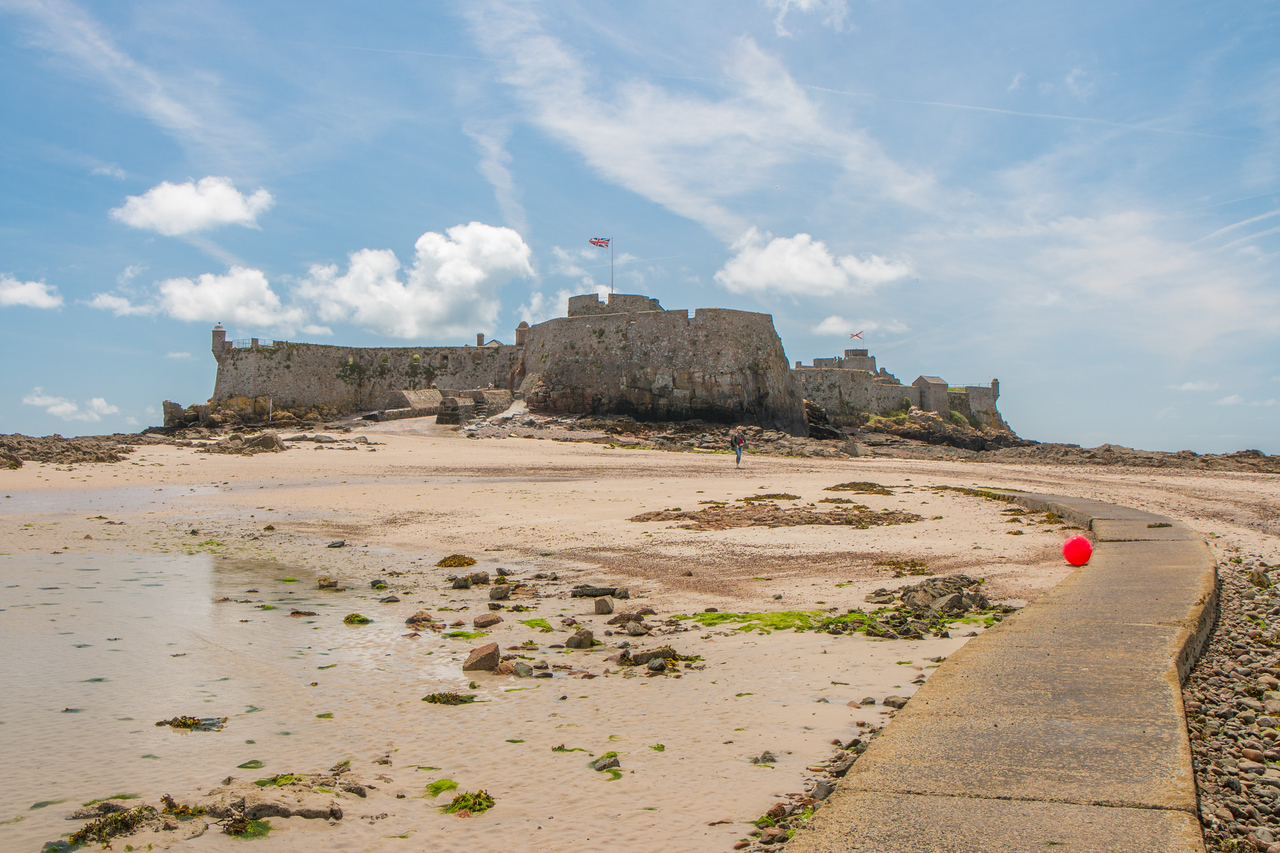 Elizabeth Castle at low tide