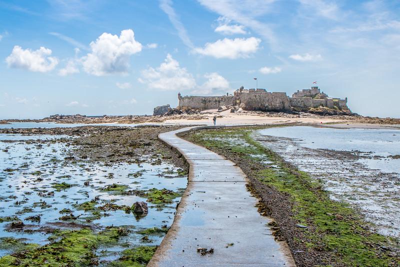 Elizabeth Castle at low tide, Jersey