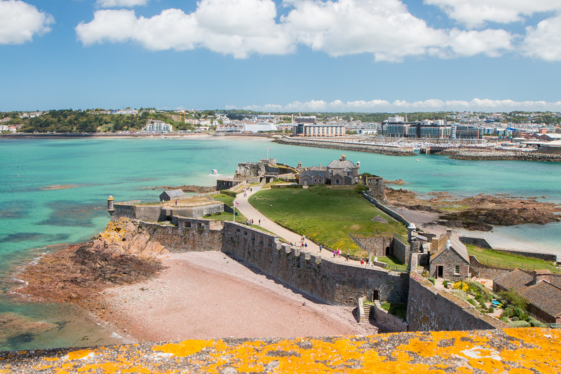 The view from the top of Elizabeth Castle, Jersey