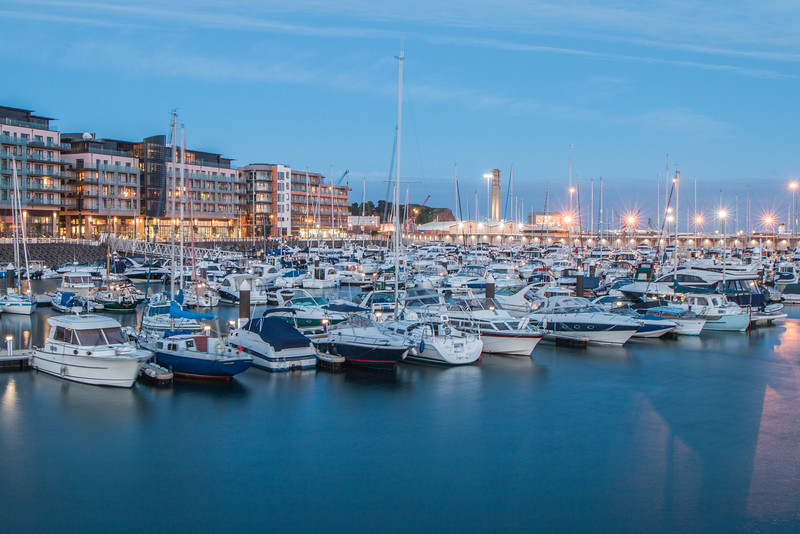 Saint Helier by night, Jersey