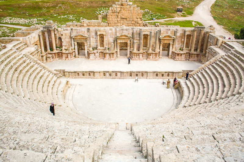 The roman city of Jerash, Jordan