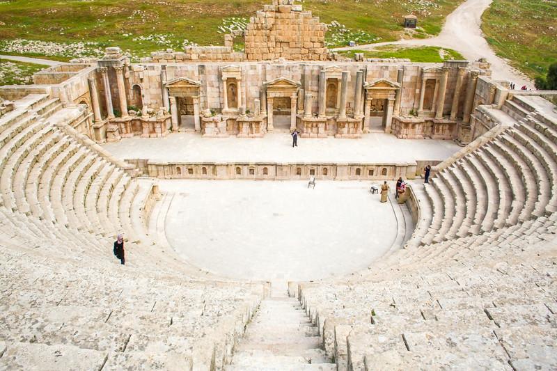 The roman city of Jerash, Jordan
