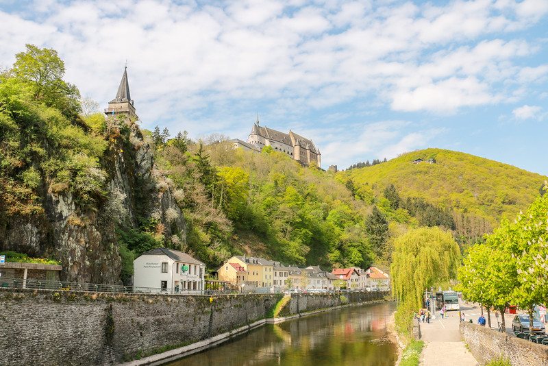 View from the river, Vianden