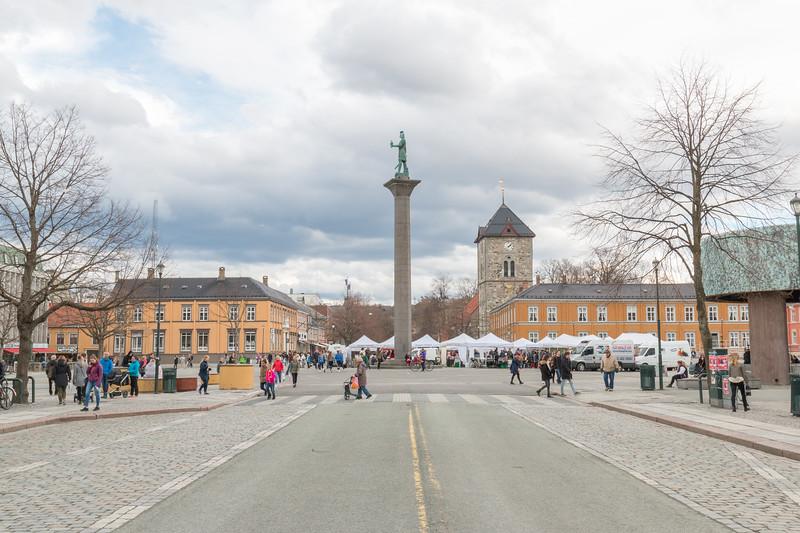Market square, Trondheim