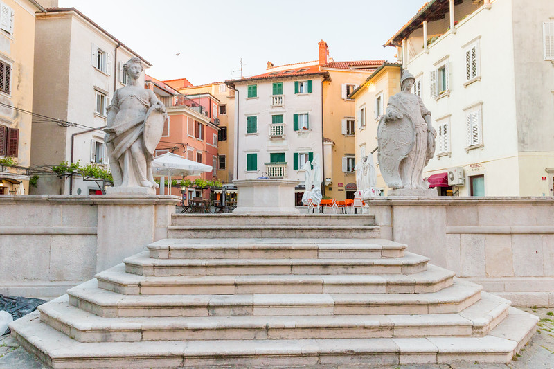 First of May square, Piran, Slovenia