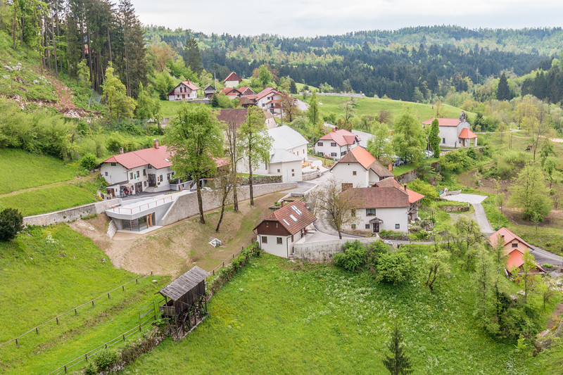 The views from Predjama Castle, Slovenia