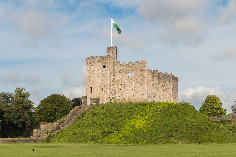 Cardiff Castle's keep, Wales