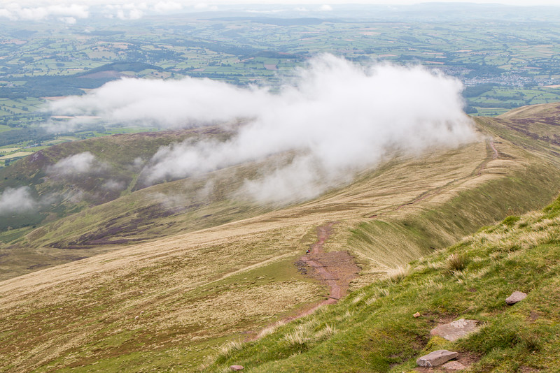 View from Corn Du, Wales