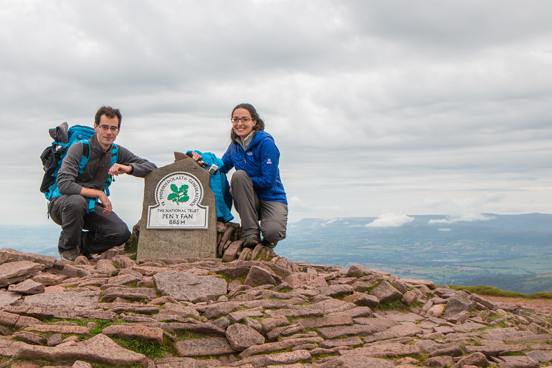 At the top of Pen Y Fan, Wales
