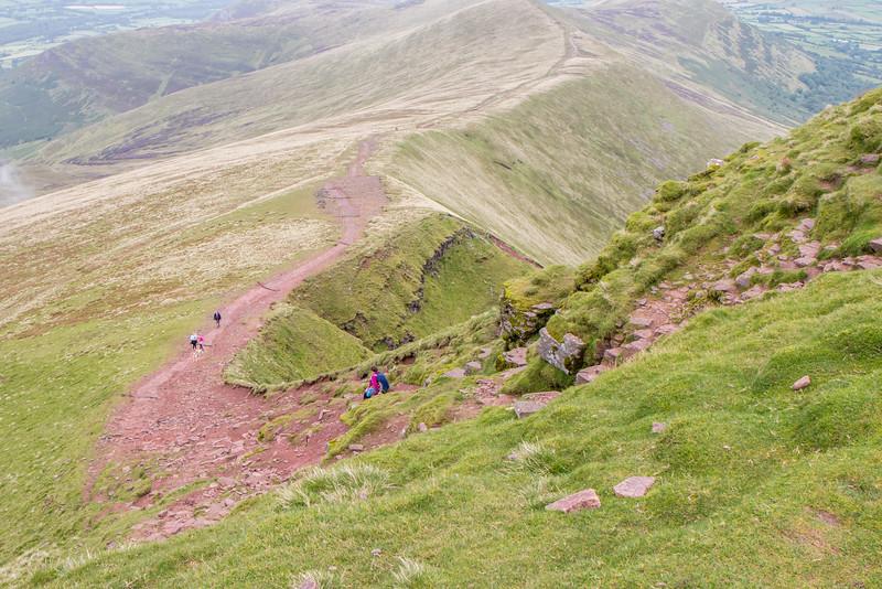 Going down Pen Y Fan, Wales